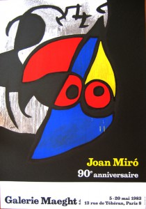 Joan Miro Exhibition Poster