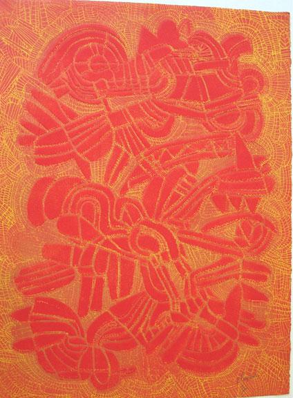 Peyare ''Orange Abstract''