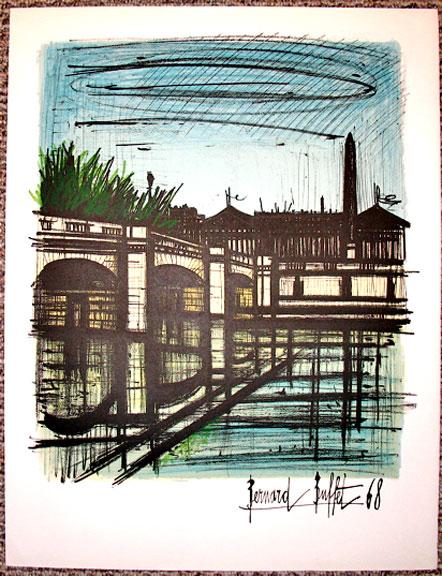 Bernard Buffet - ''Isle St. Louis''