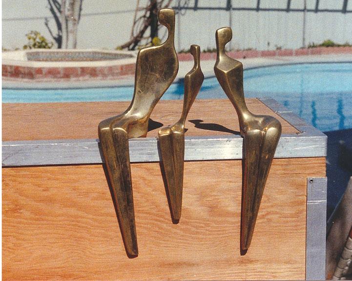 Three Sitting Figures