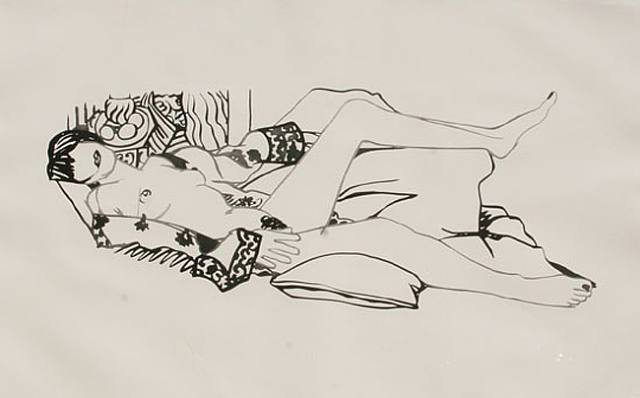 Monica Nude with Matisse