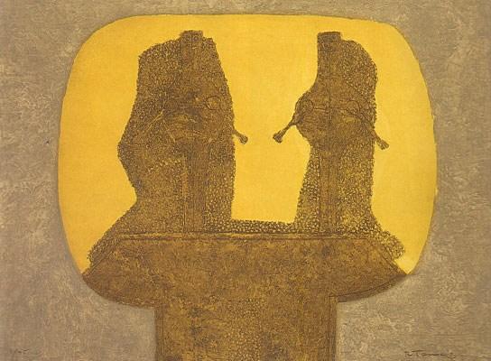 Dos Figuras (Yellow & Gold)