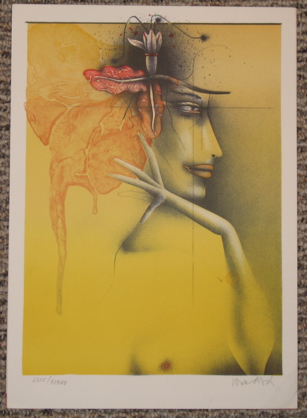Paul Wunderlich ''Tete de femme''