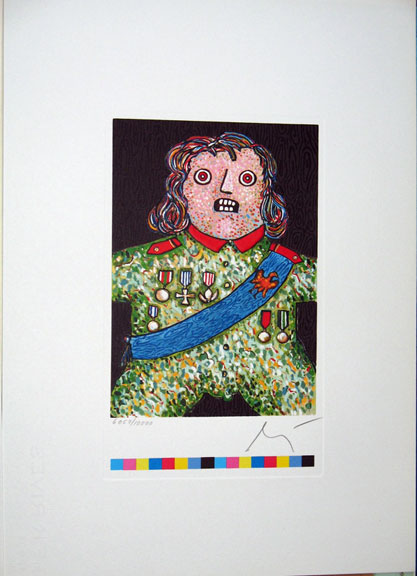 Enrico Baj ''Der kleine General''