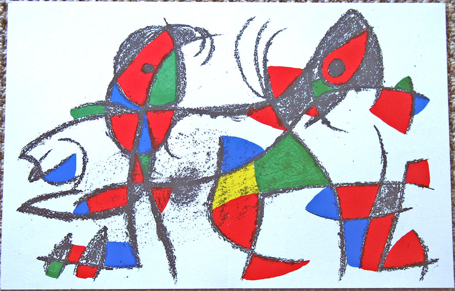 Joan Miro Volume II Book Plate