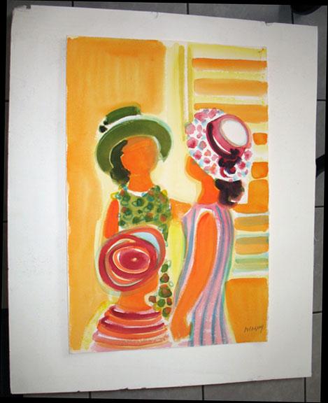 Trois Femmes au Chapeaux