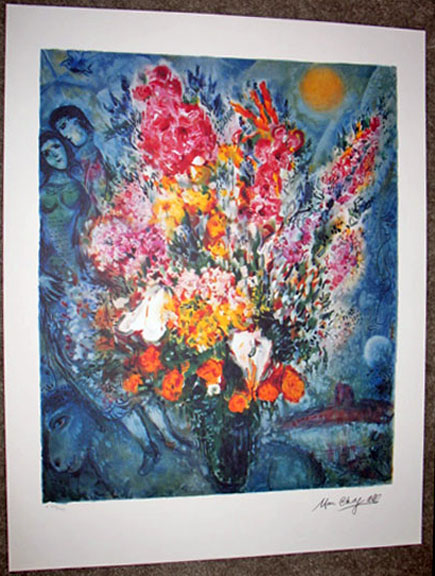 Marc Chagall Blue Bouquet