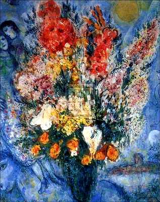 Marc Chagall - Blue Bouquet