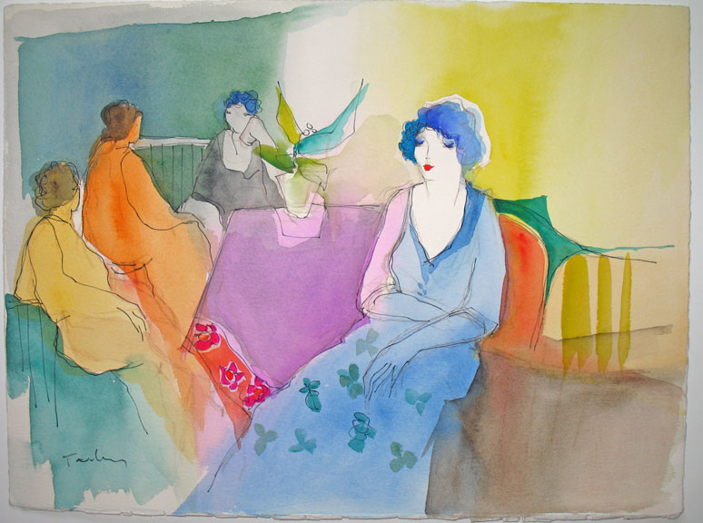 Four Women in Cafe