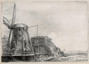 "Rembrandt, circa 1640, ""The Windmill"""