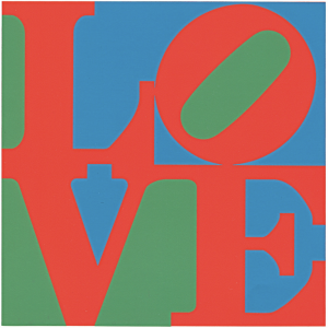 "Robert Indiana, 1996, ""Heliotherapy Love"""